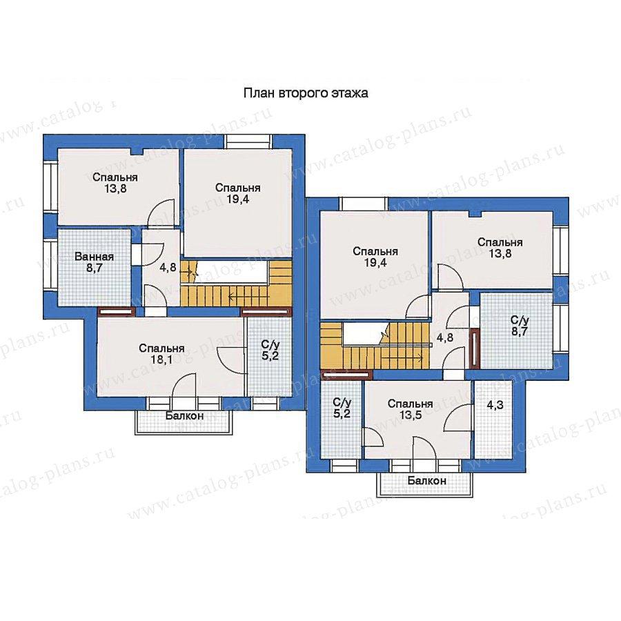 План 2-этажа проекта 33-14