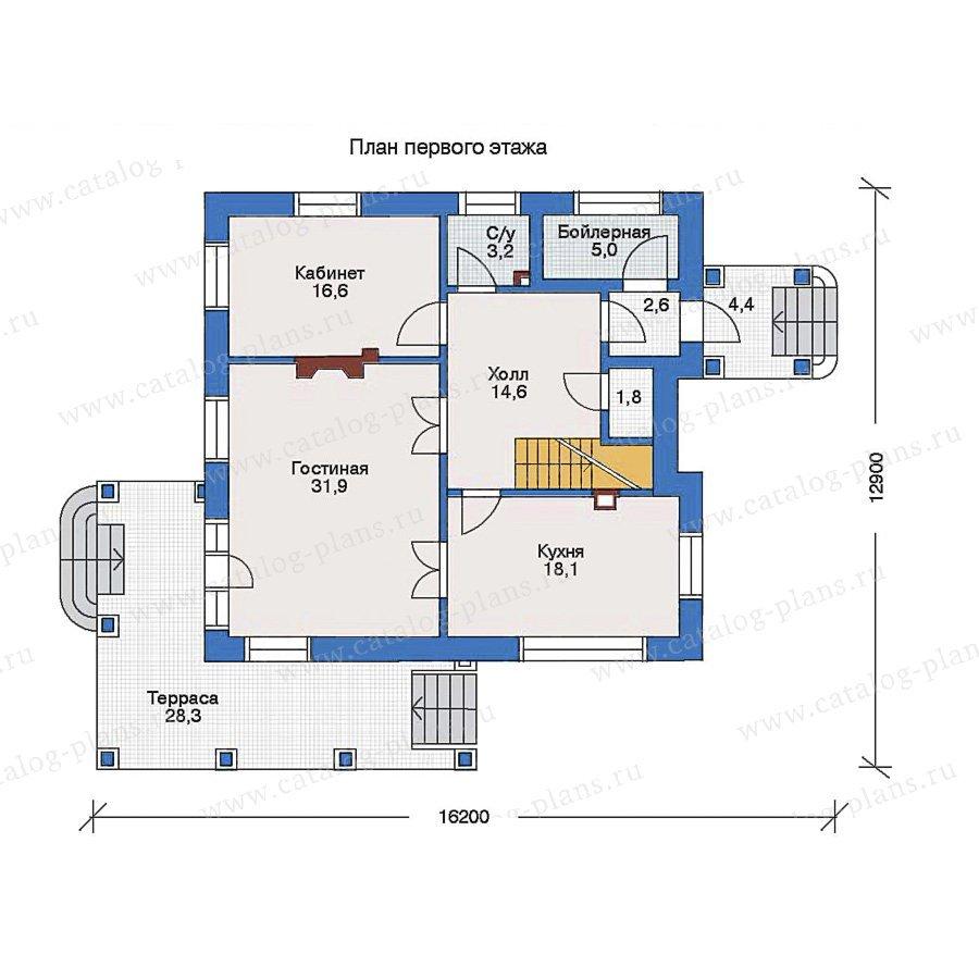 План 1-этажа проекта 33-28