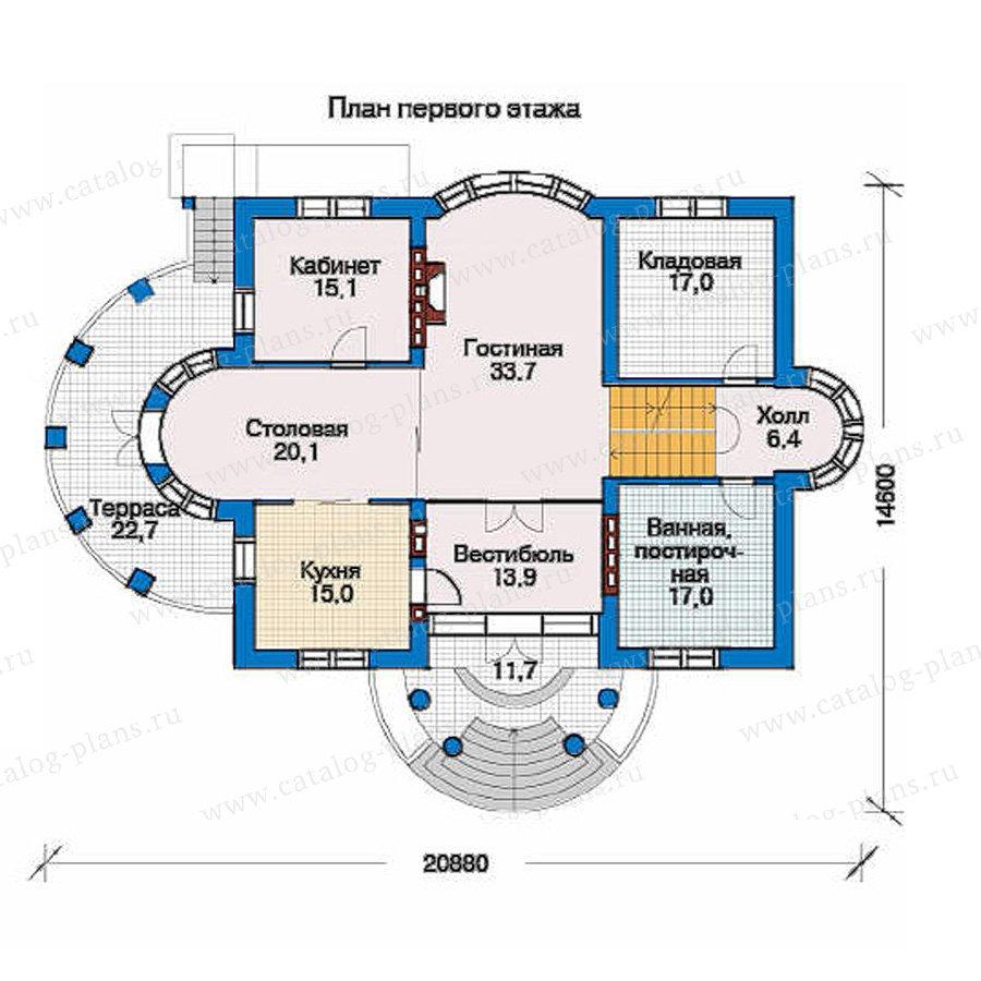 План 2-этажа проекта 33-44