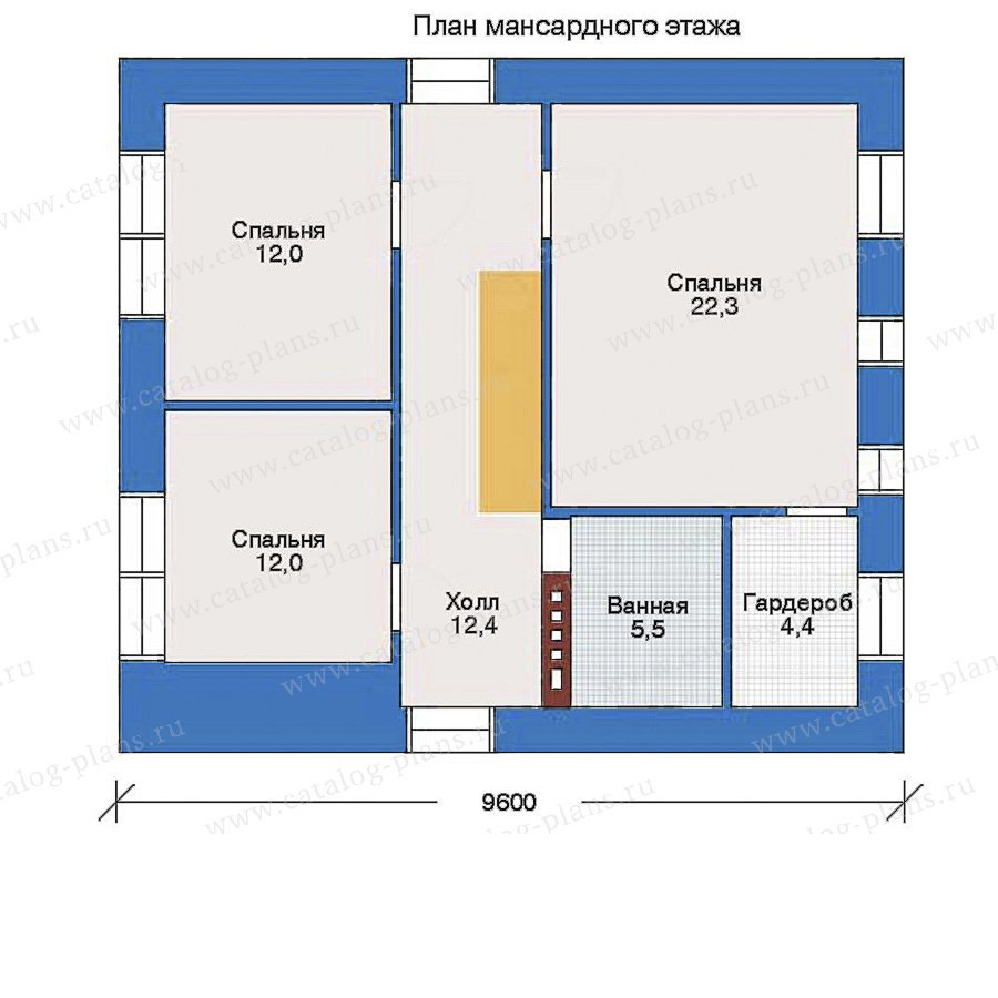 План 2-этажа проекта 33-01
