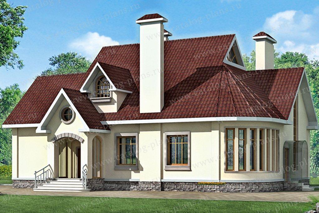 Проект жилой дом #33-16 материал - кирпич, стиль европейский