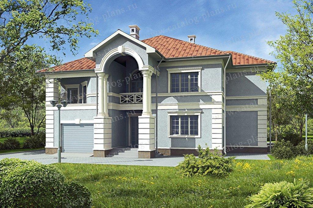 Проект жилой дом #33-67 материал - кирпич, стиль классический