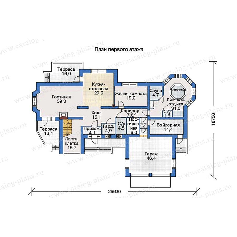 План 1-этажа проекта 33-79