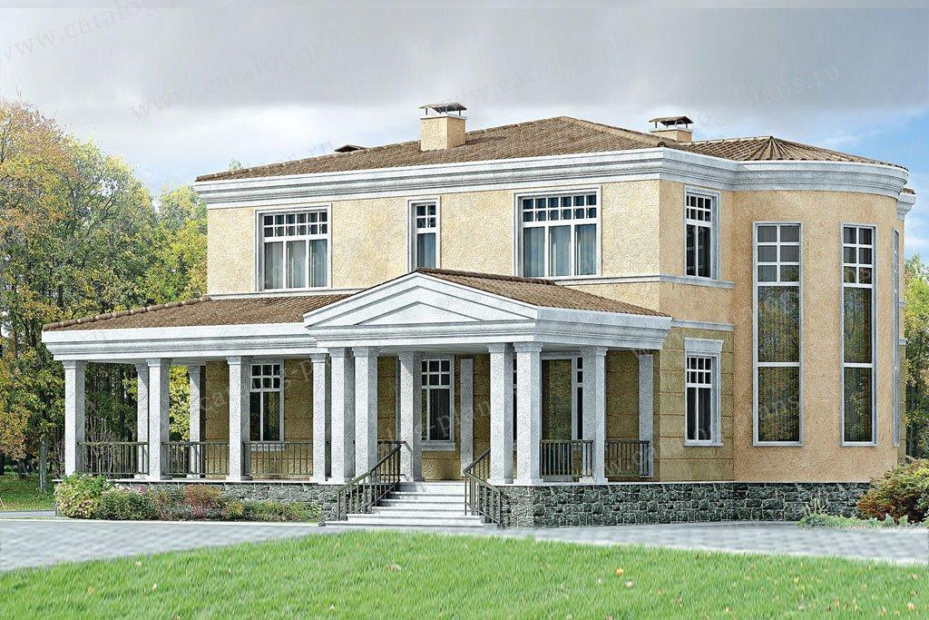 Проект жилой дом #33-24 материал - кирпич, стиль классический