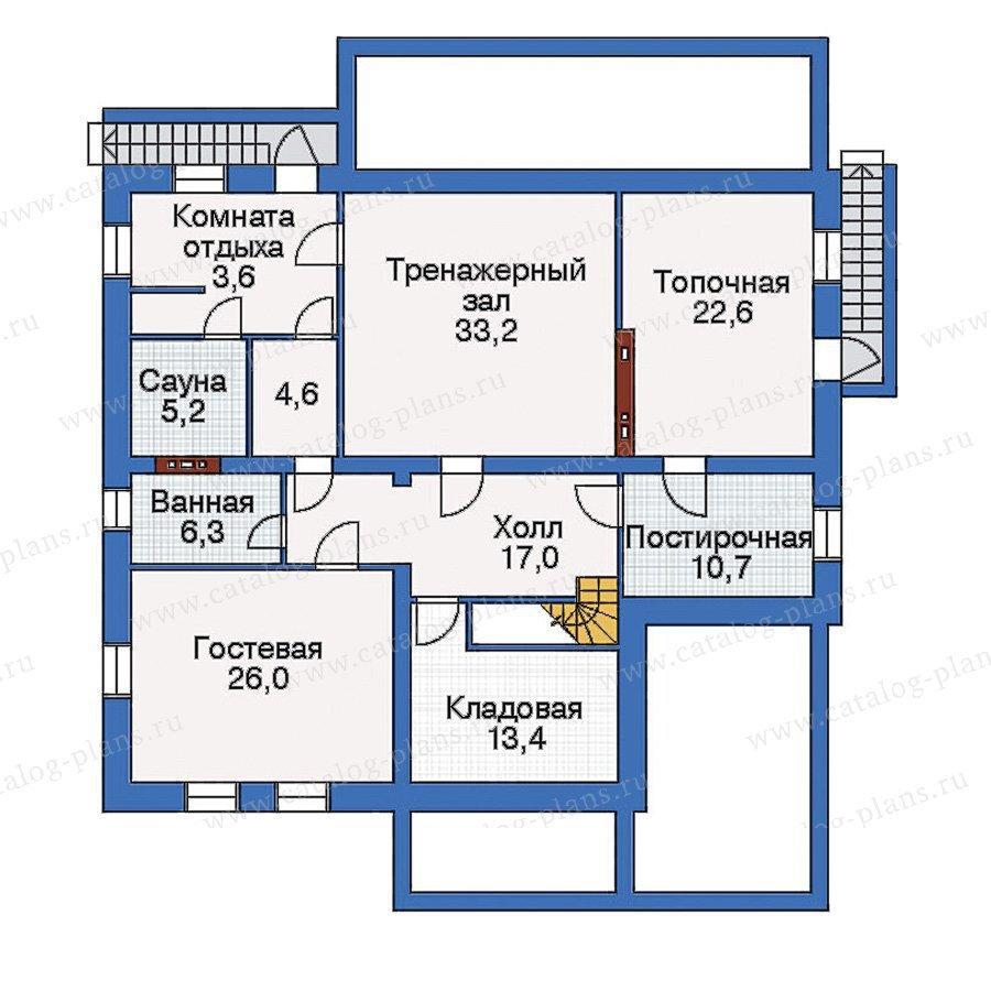 План 1-этажа проекта 33-08