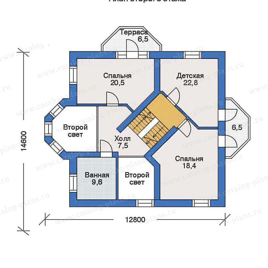 План 2-этажа проекта 33-87