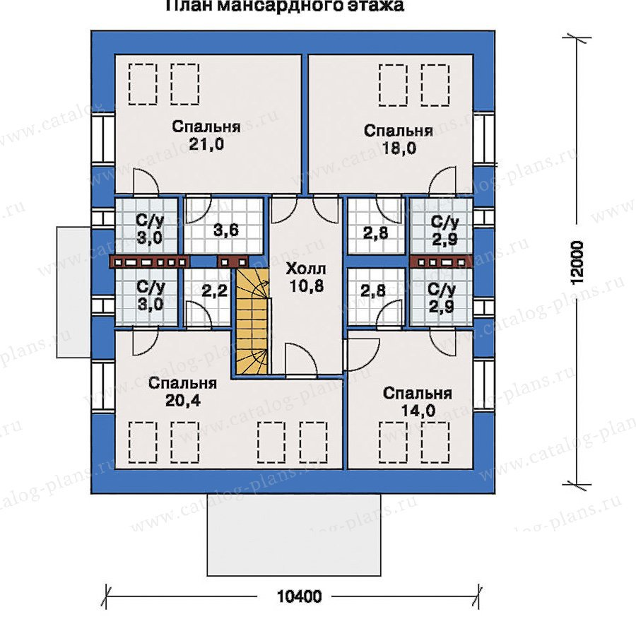 План 2-этажа проекта 33-47