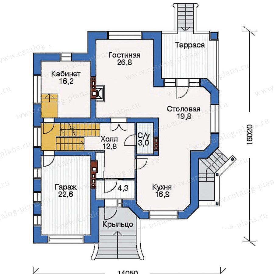 План 2-этажа проекта 33-42