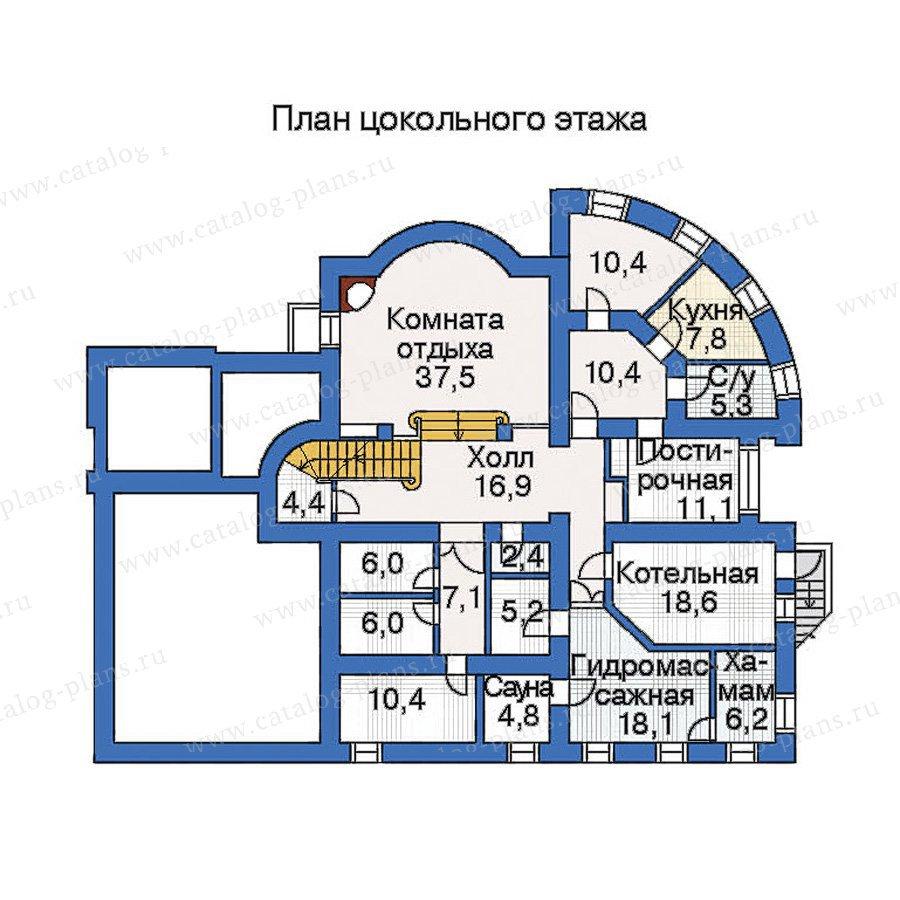 План 1-этажа проекта 33-76