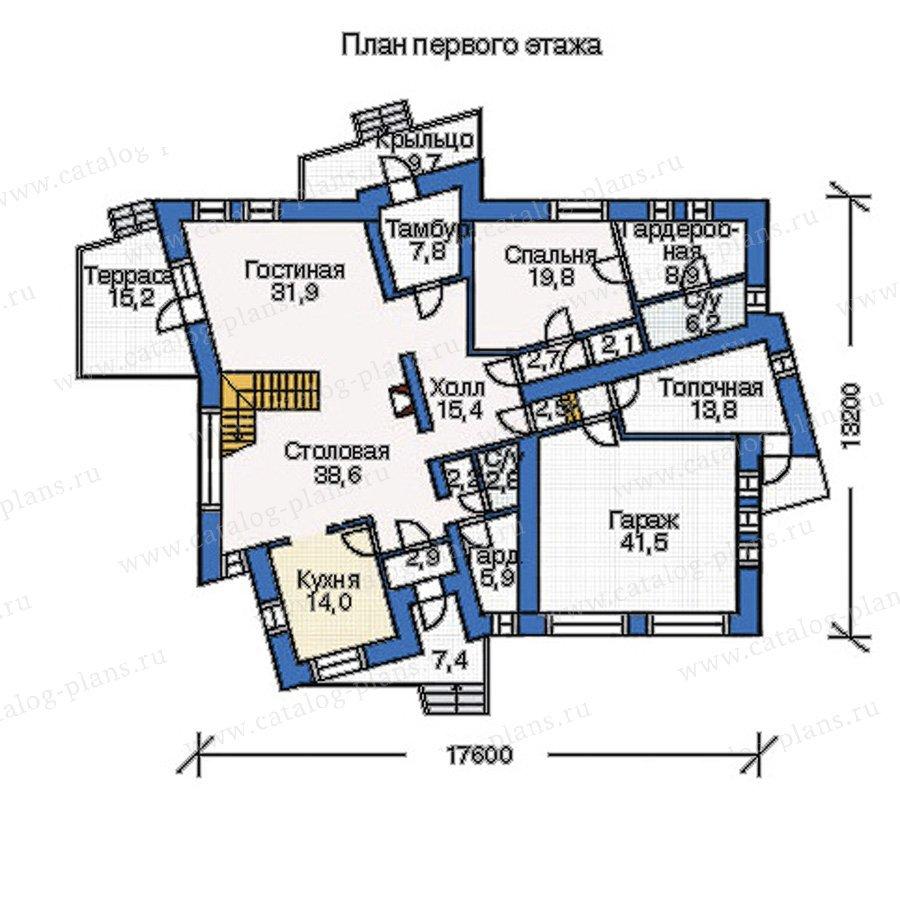 План 1-этажа проекта 33-92