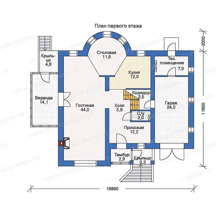 План 1-этажа проекта 33-96