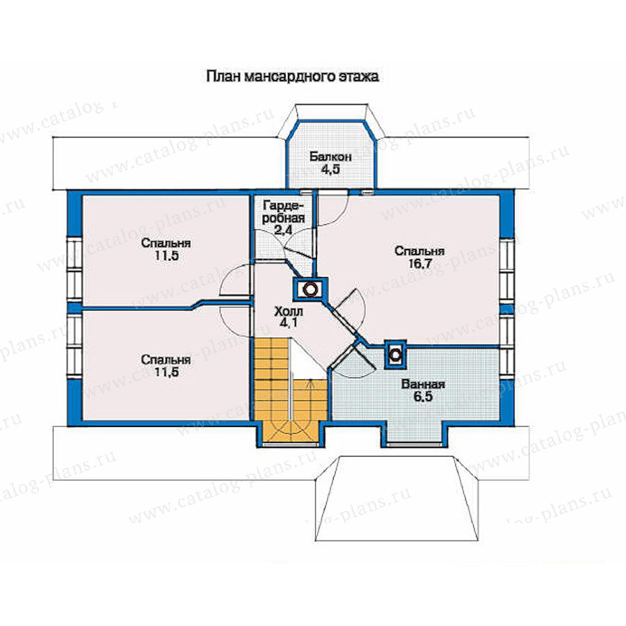 План 2-этажа проекта 33-86