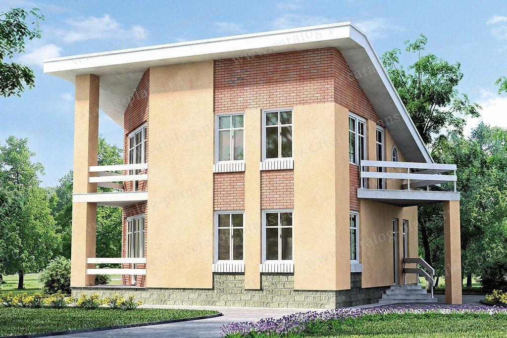 Проект жилой дом #33-36 материал - кирпич, стиль современный