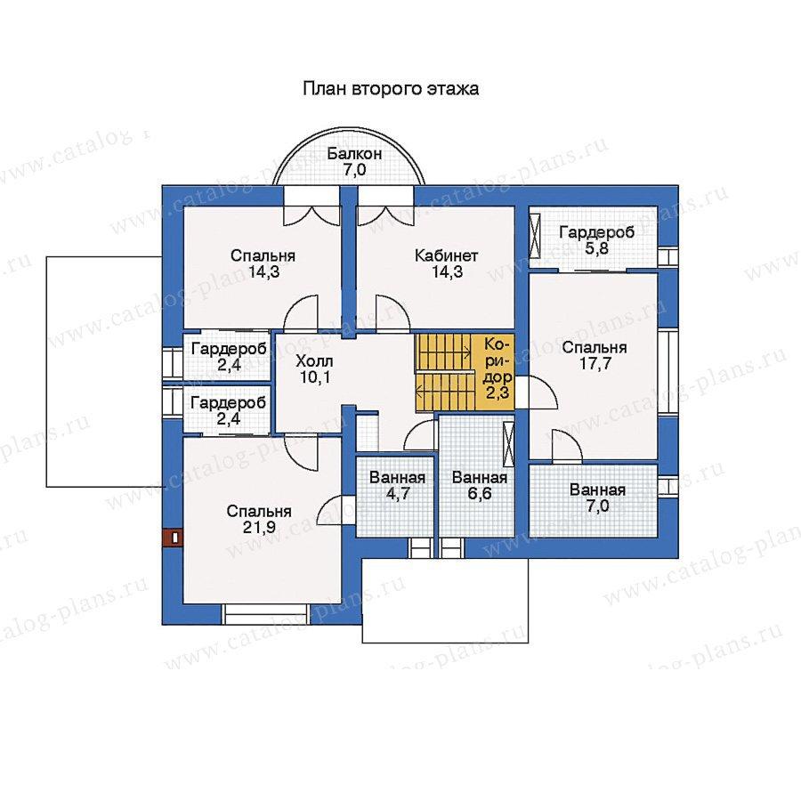 План 2-этажа проекта 33-96