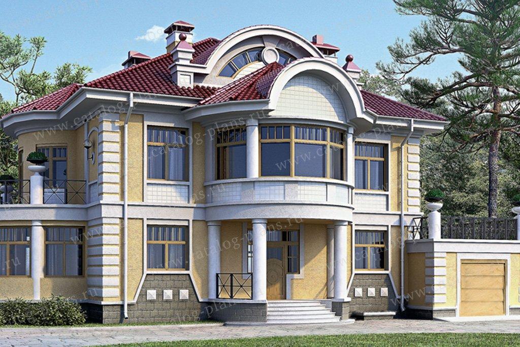 Проект жилой дом #33-95 материал - кирпич, стиль классический