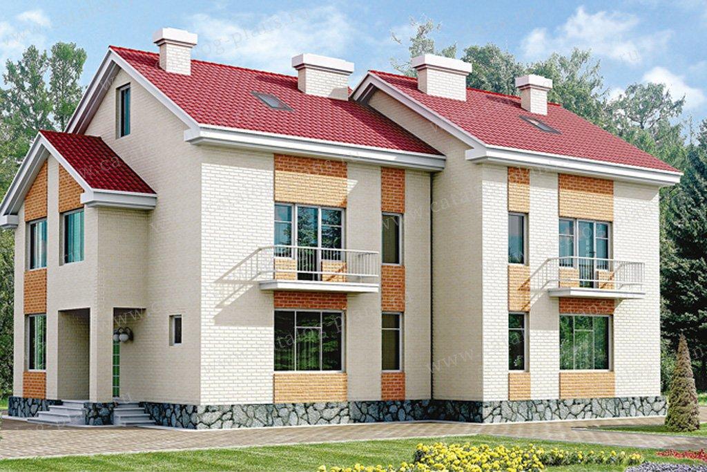 Проект жилой дом #33-14 материал - кирпич, стиль минимализм
