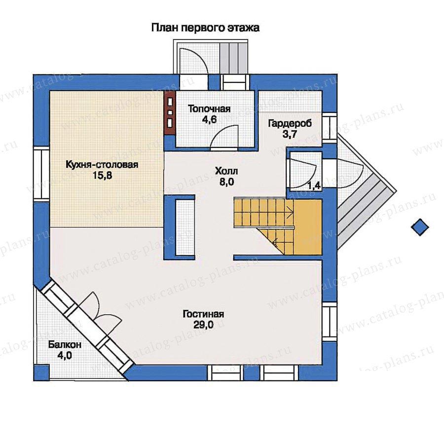 План 1-этажа проекта 33-36