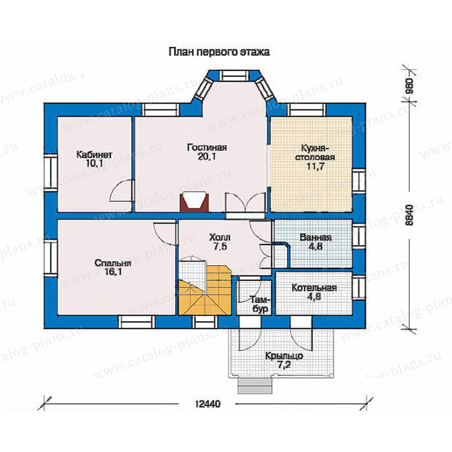 План 1-этажа проекта 33-86