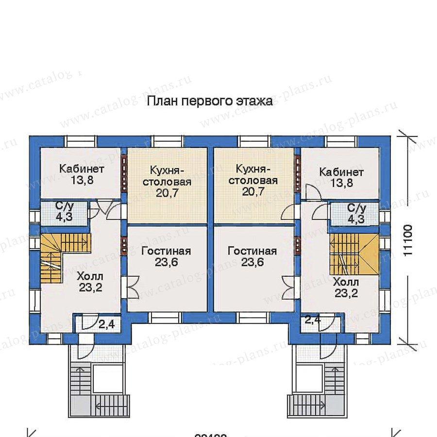 План 2-этажа проекта 33-03