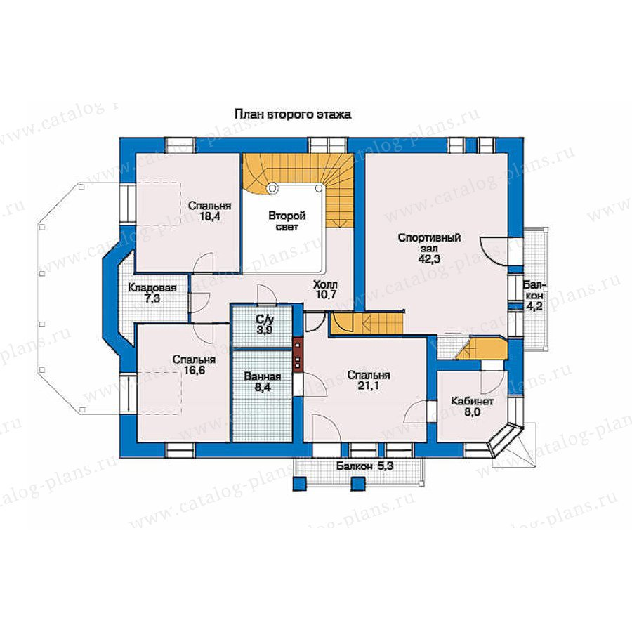 План 2-этажа проекта 33-19