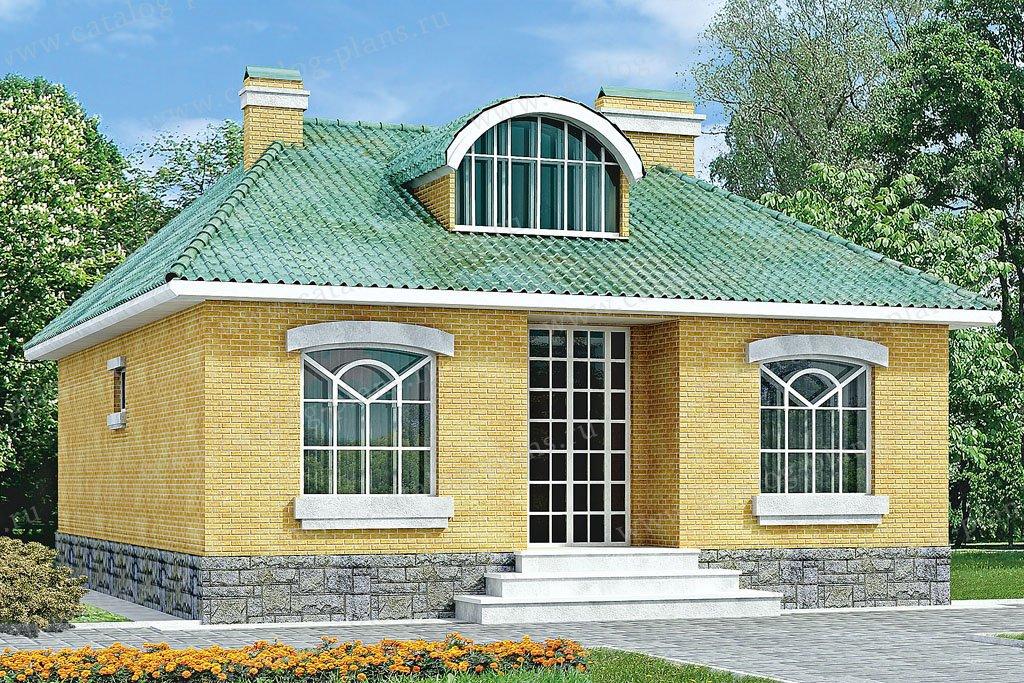 Проект жилой дом #33-18 материал - кирпич, стиль европейский