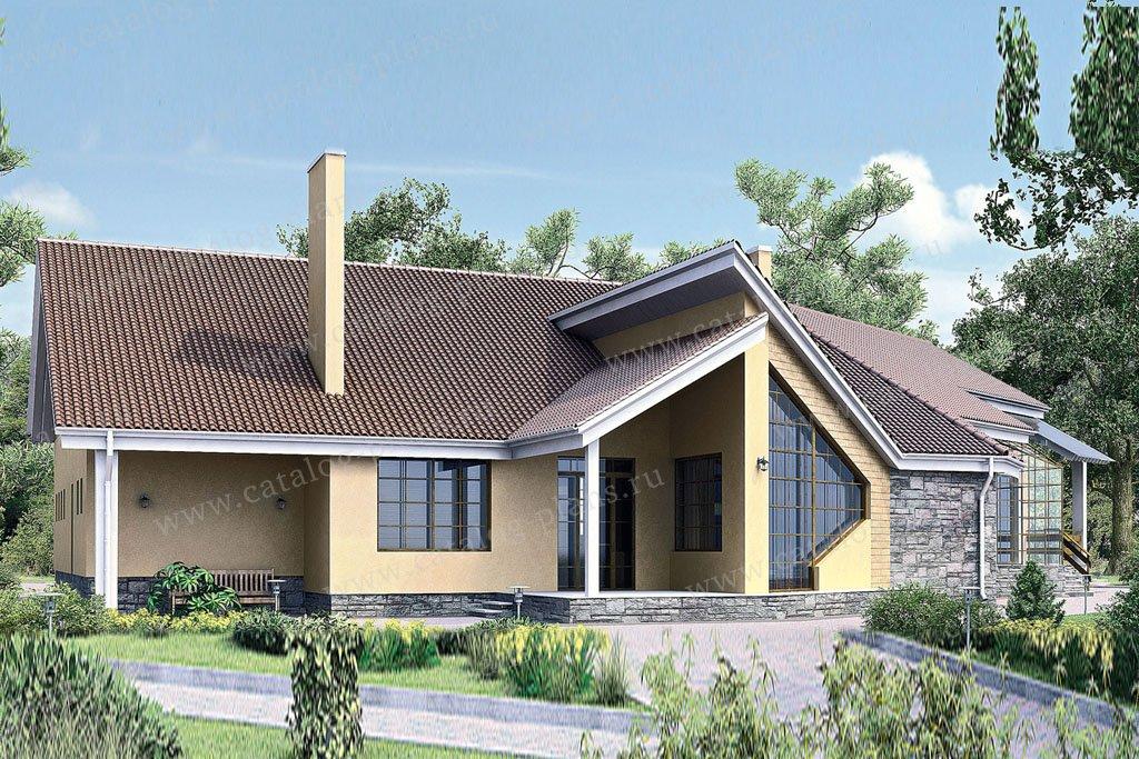 Проект жилой дом #33-89 материал - кирпич, стиль современный