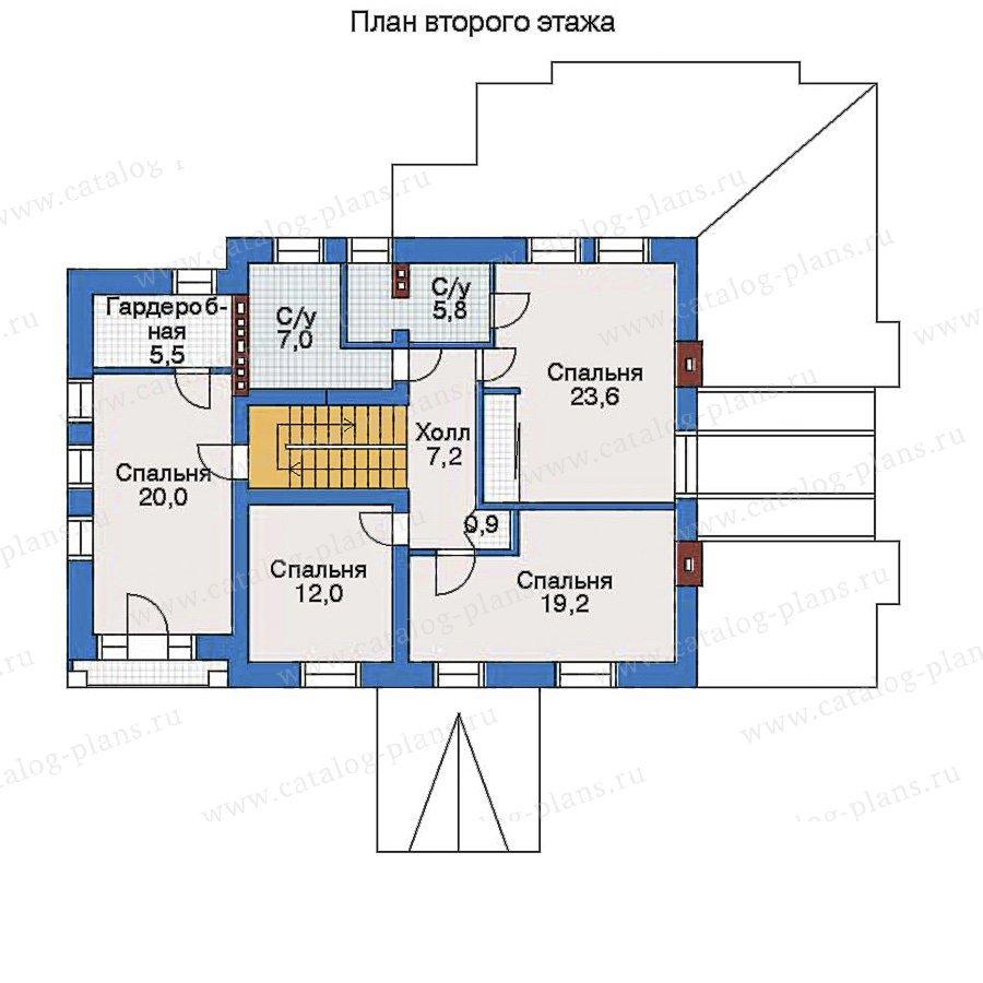 План 3-этажа проекта 33-46