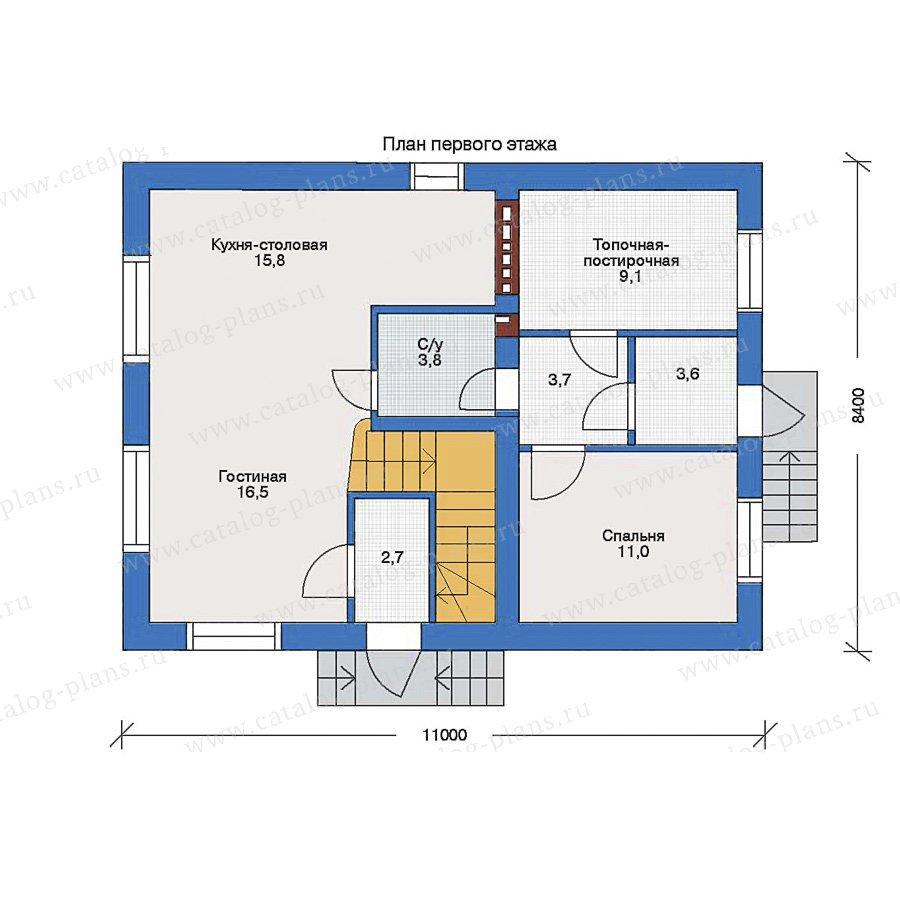 План 1-этажа проекта 33-17