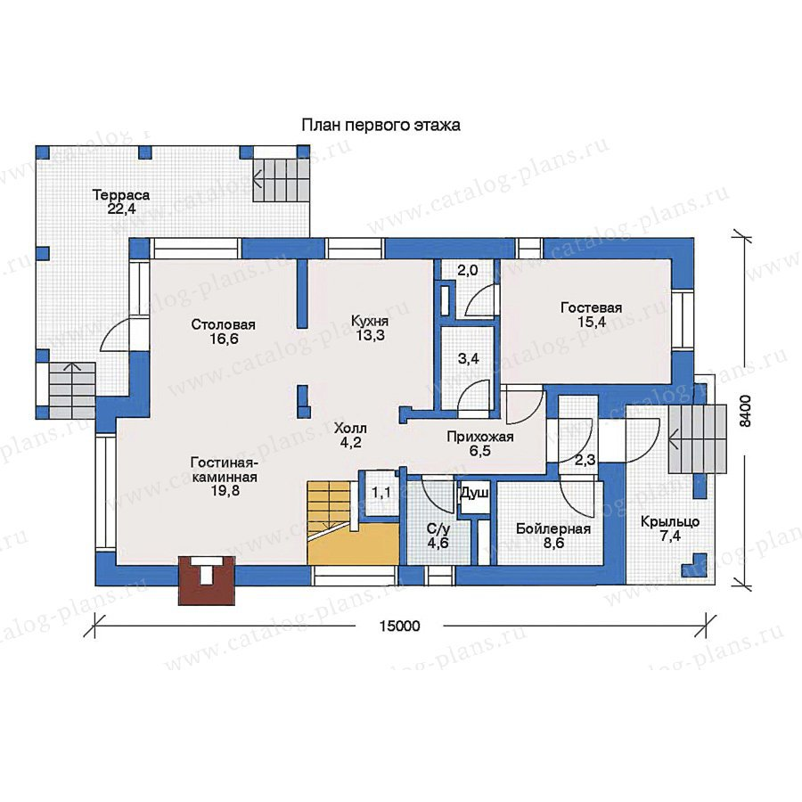 План 1-этажа проекта 33-27
