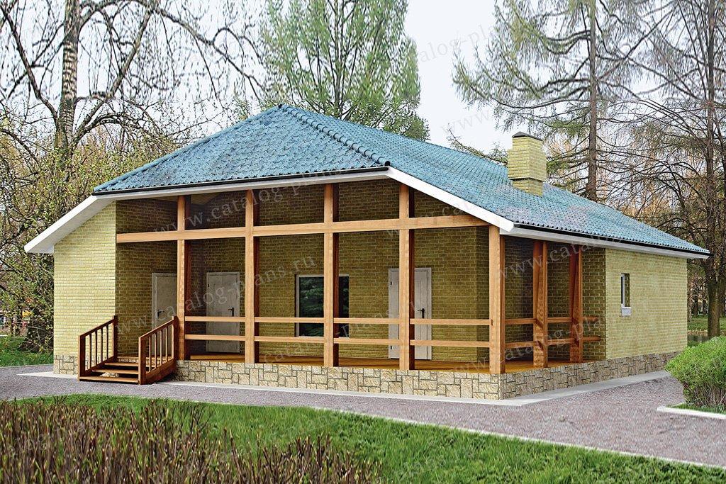 Проект жилой дом #33-13 материал - кирпич, стиль европейский