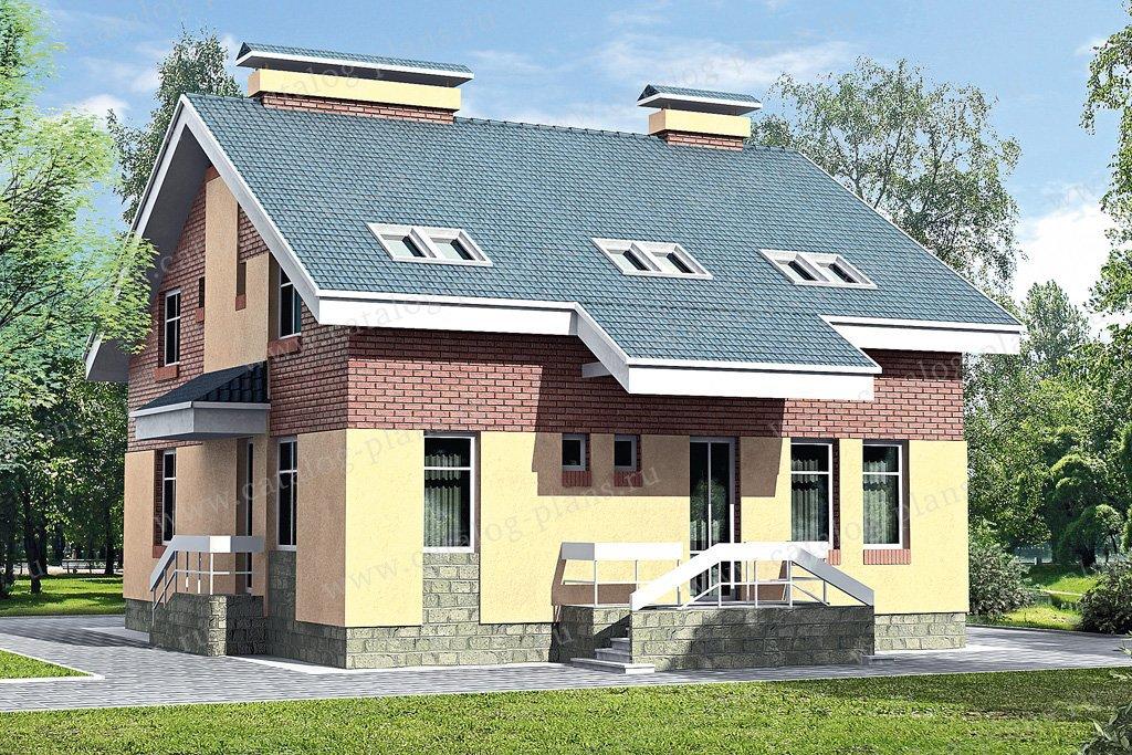 Проект жилой дом #33-47 материал - кирпич, стиль современный