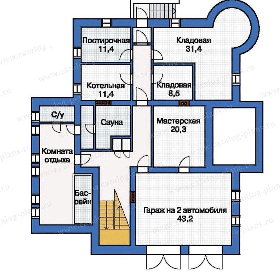 План 1-этажа проекта 33-35