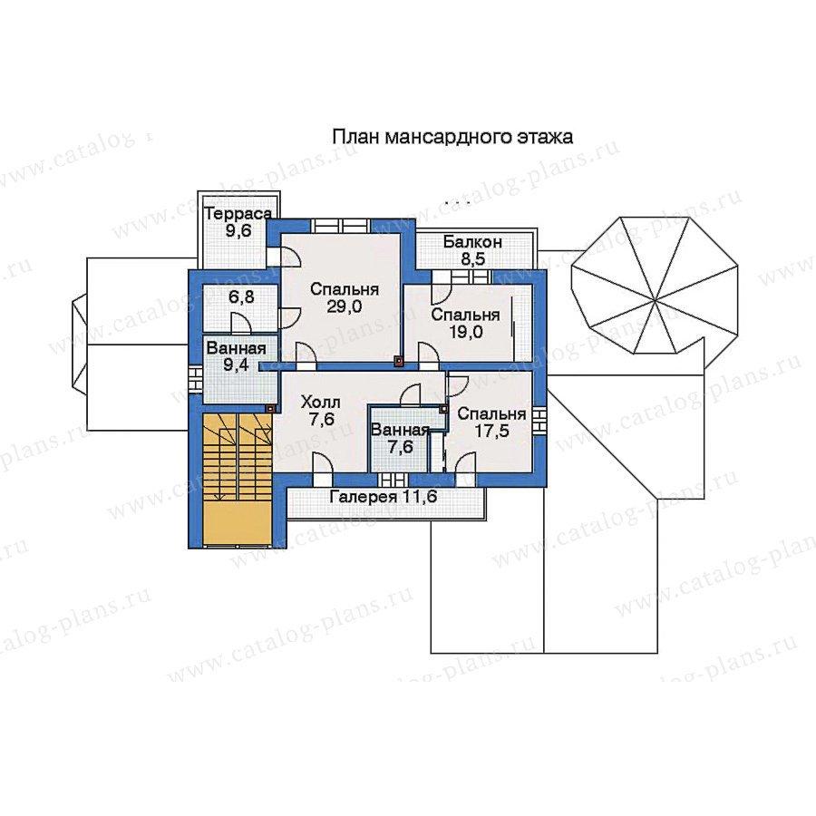 План 2-этажа проекта 33-79
