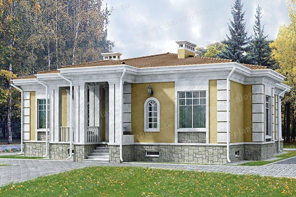 Проект жилой дом #33-20 материал - кирпич, стиль классический
