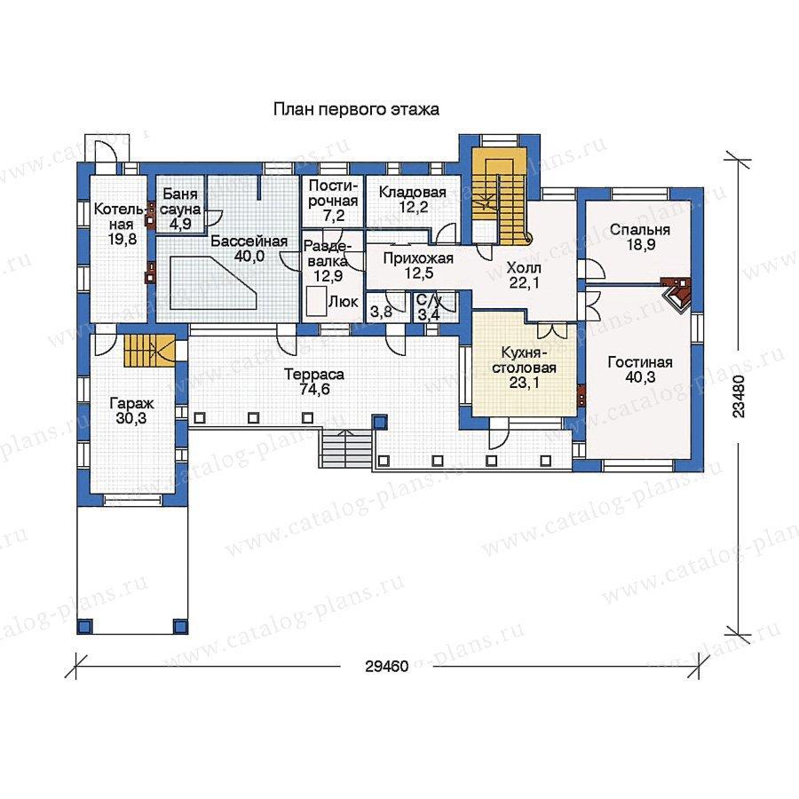 План 1-этажа проекта 33-33