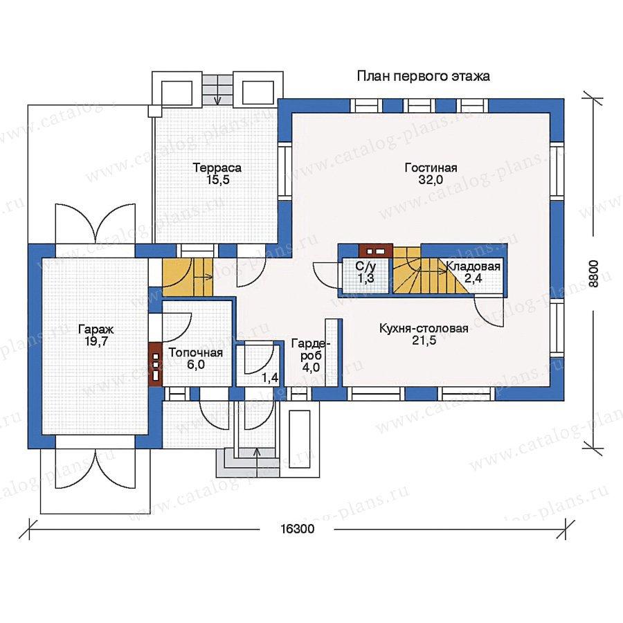 План 1-этажа проекта 33-73