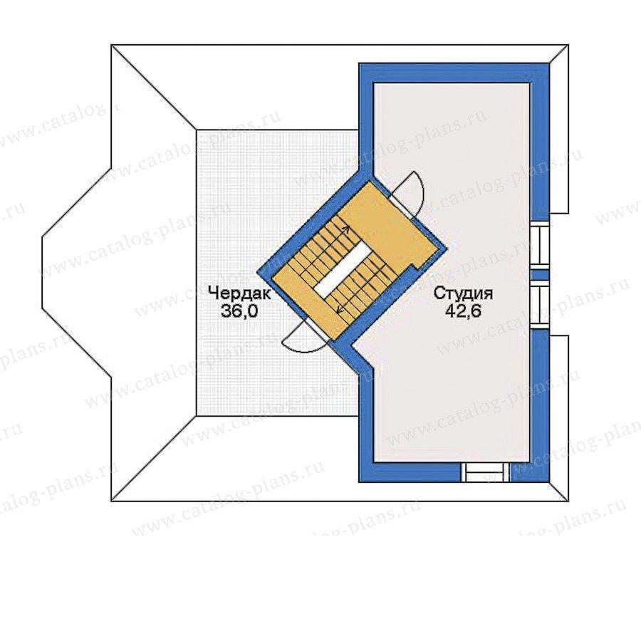 План 3-этажа проекта 33-87
