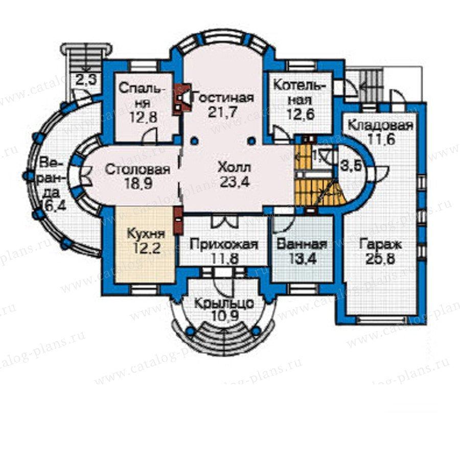 План 2-этажа проекта 33-95
