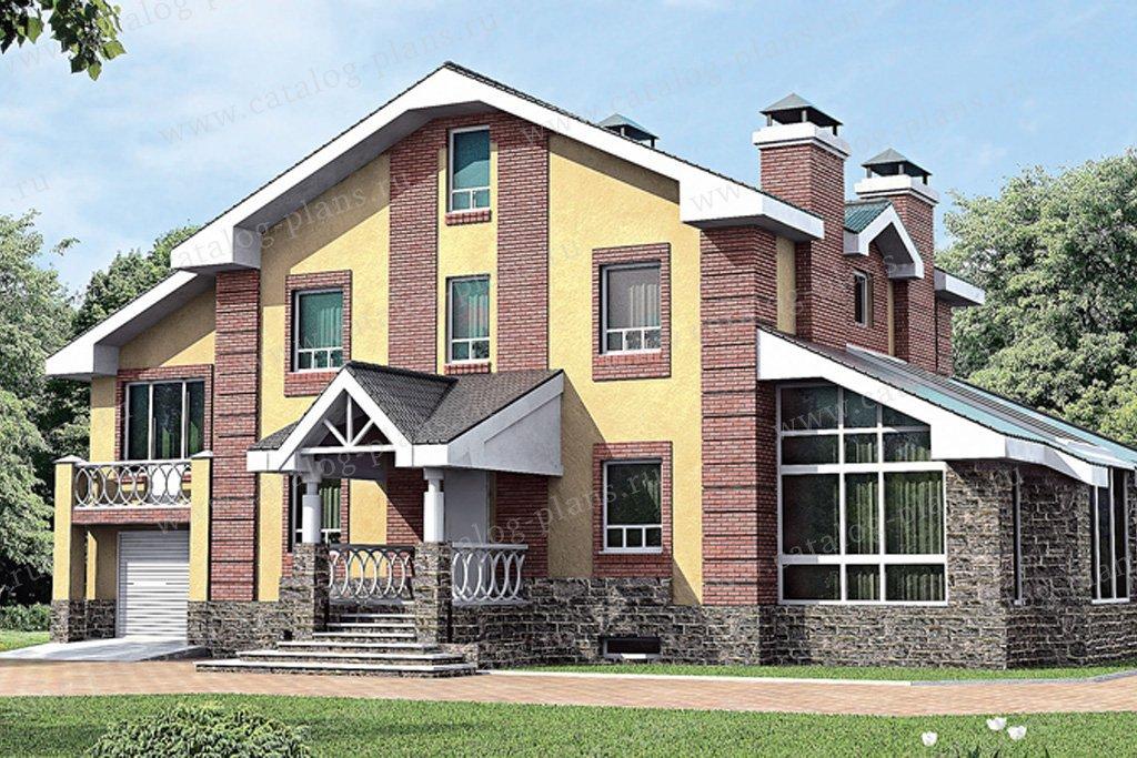 Проект жилой дом #33-46 материал - газобетон, стиль европейский