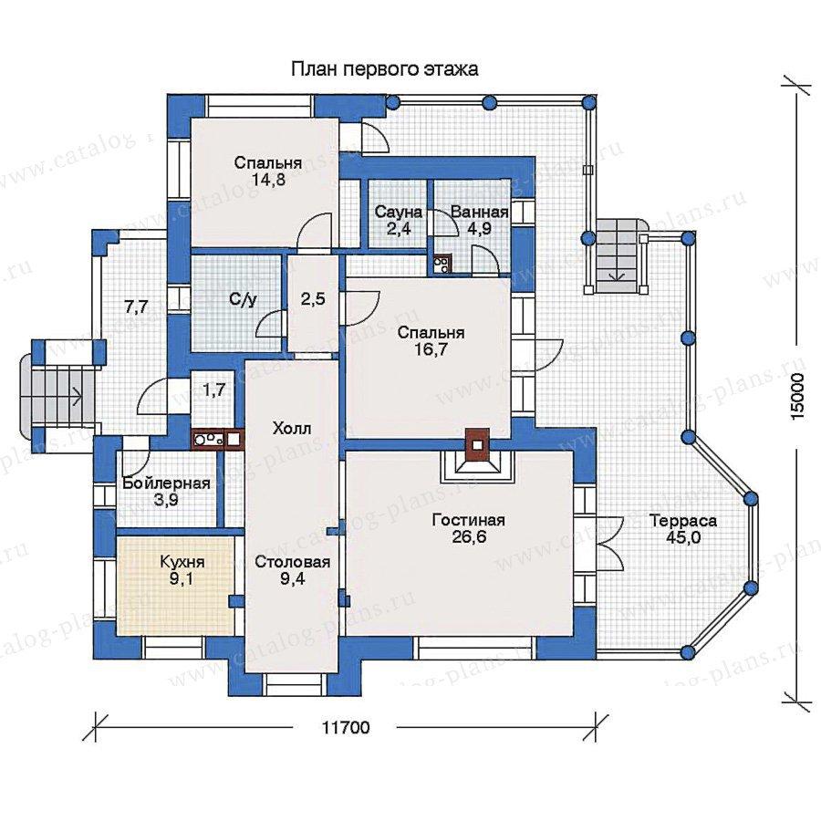 План 1-этажа проекта 33-20