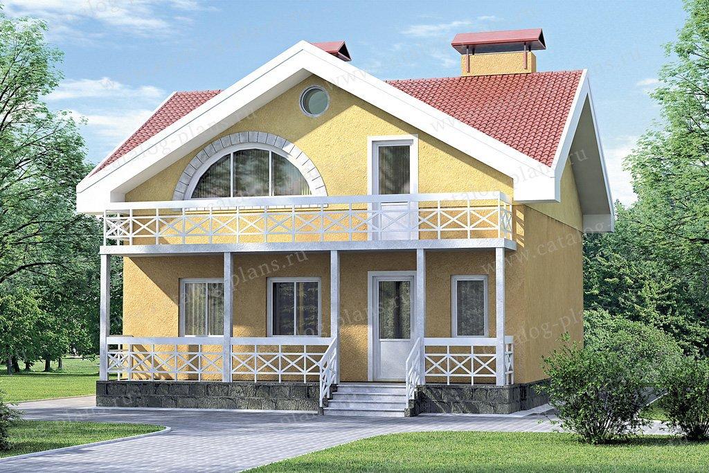 Проект жилой дом #33-37 материал - кирпич, стиль средиземный