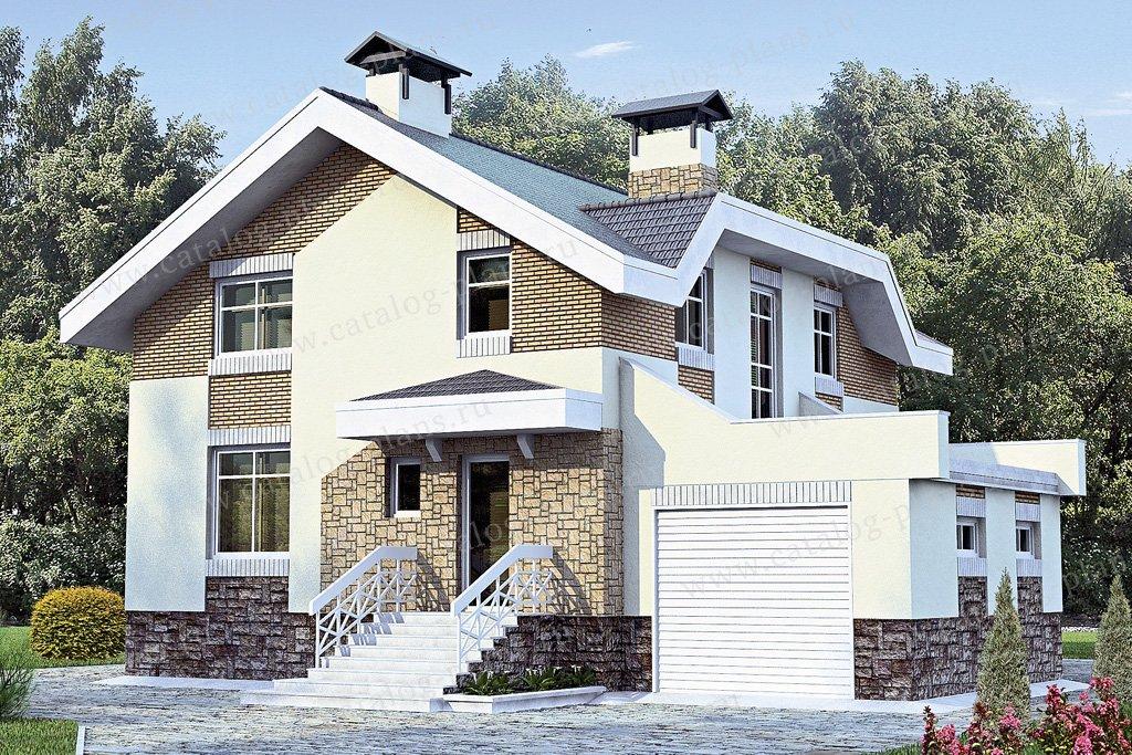 Проект жилой дом #33-83 материал - кирпич, стиль европейский