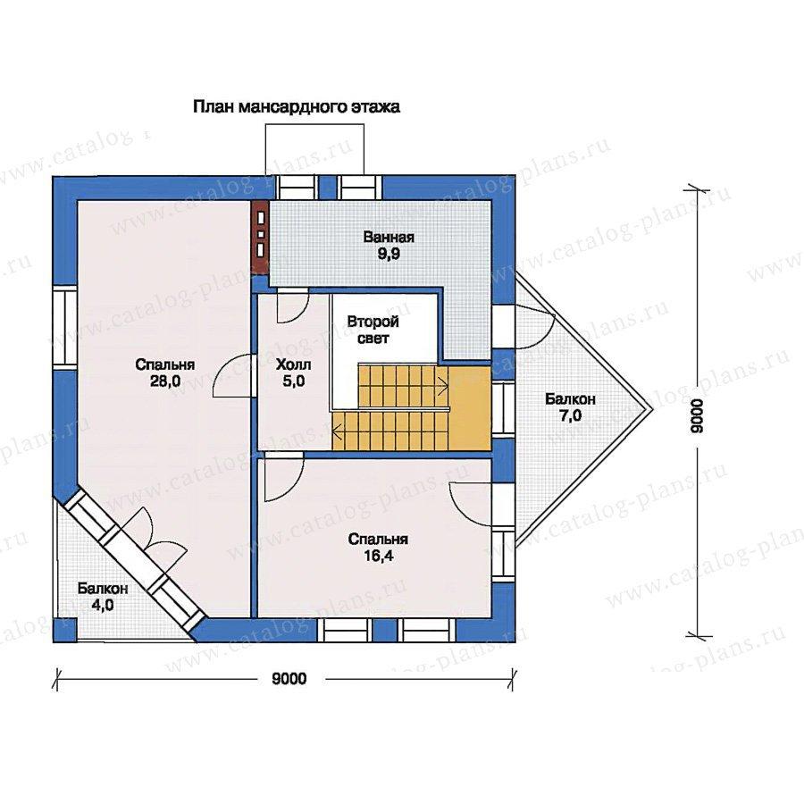 План 2-этажа проекта 33-36