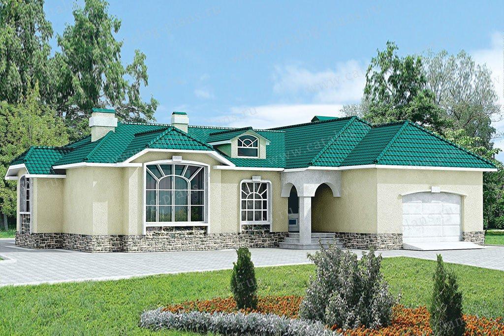 Проект жилой дом #33-15 материал - кирпич, стиль классический