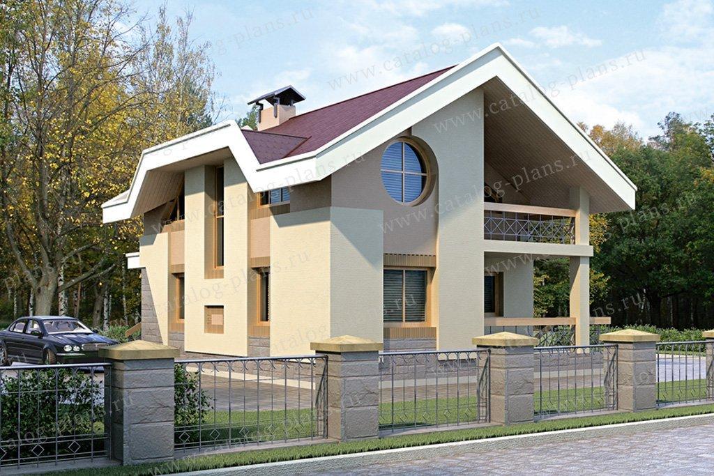 Проект жилой дом #33-06 материал - кирпич, стиль современный