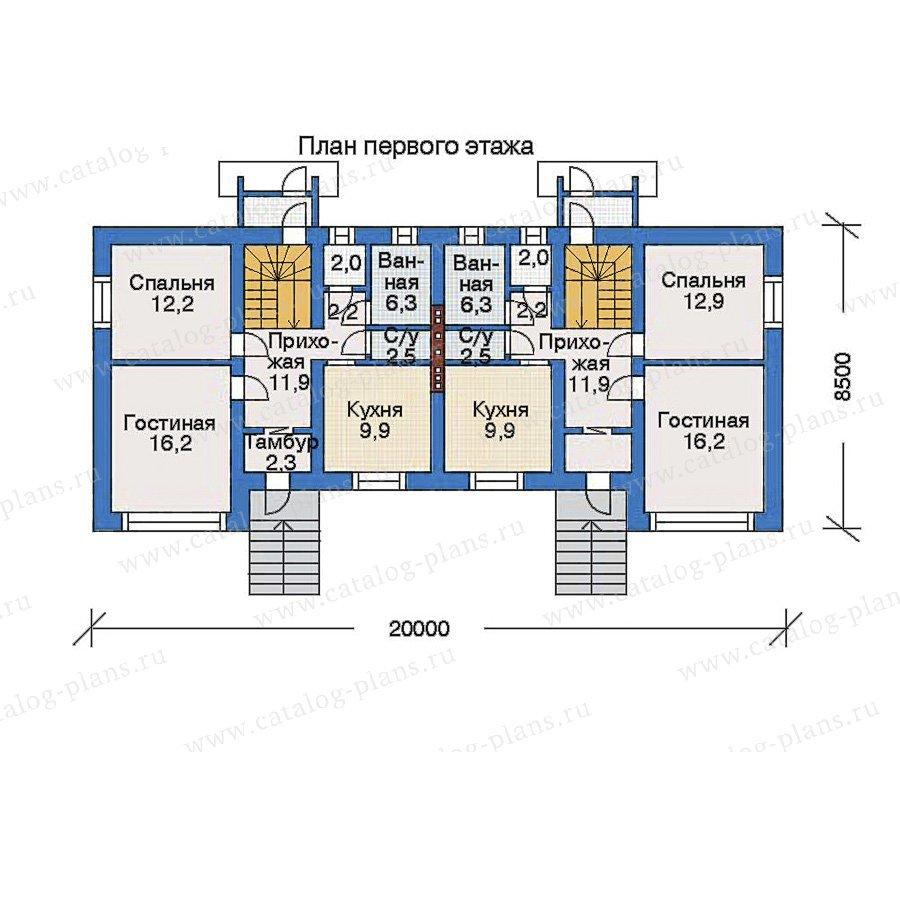 План 2-этажа проекта 33-84