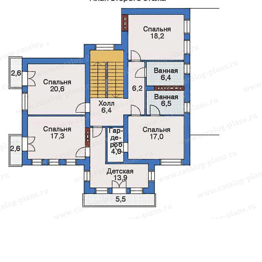 План 3-этажа проекта 33-53