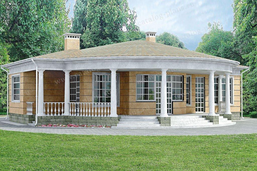 Проект жилой дом #33-21 материал - кирпич, стиль классический