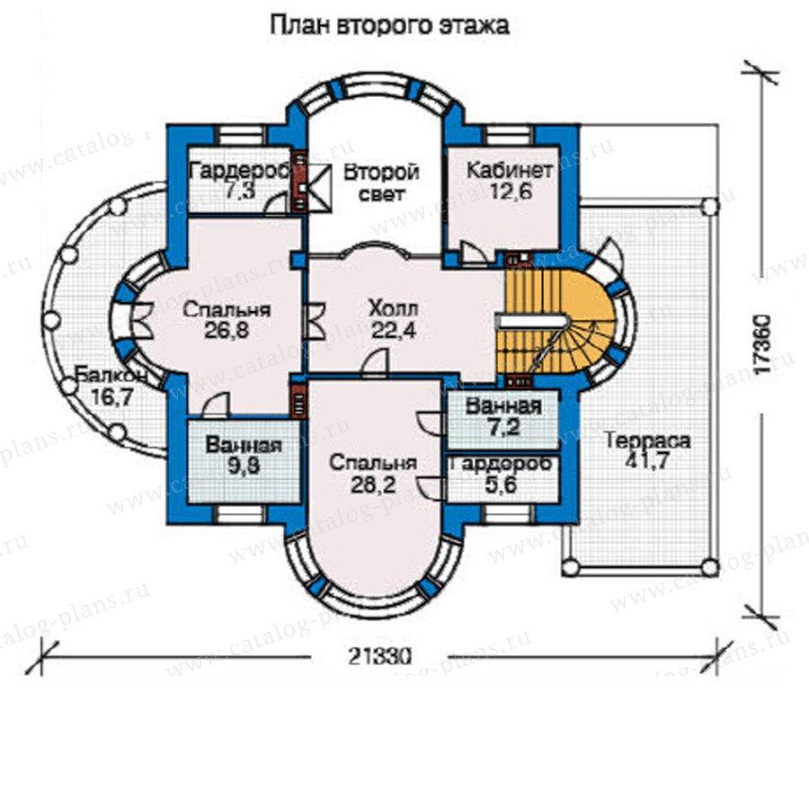 План 3-этажа проекта 33-95