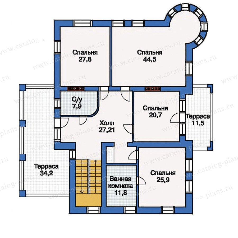 План 3-этажа проекта 33-35